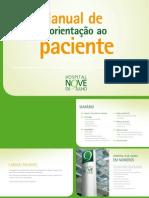 Manual de orientação ao paciente Hospital Nove de Julho