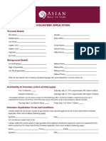 2014 Asian Hall of Fame Volunteer Application