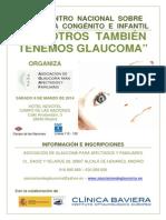 Cartel I Encuentro Nacional Glaucoma Congénito e Infantil