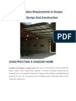 Fire Separation Requirements in Hangar Home Design and Construction