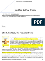 La bomba demográfica de Paul Ehrlich, Julio Pérez Díaz