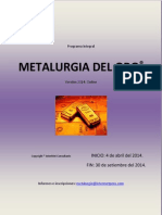 Programa Integral Metalurgia Del Oro - Virtual 2014