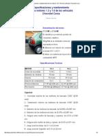 Especificaciones y Mantenimiento de Los Motores 1.6