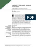 ULTRAMARI & REZENDE Artigo Grandes Projetos Urbanos Conceitos e Referenciais