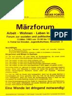 1993-03 Neues Forum Sachsen - Maerzforum
