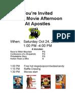 Apostles Movie Afternoon 10-24-2009