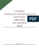 Anuarul Federatiei Organizatiilor Ortodoxe Pro-Vita Din Romania 2013
