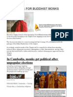 No Politics for Buddhist Monks