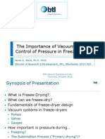 Kevin Ward - Freeze-Drying - 3rd Vacuum Symposium - Coventry - 2012