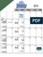 january 2014 calendar