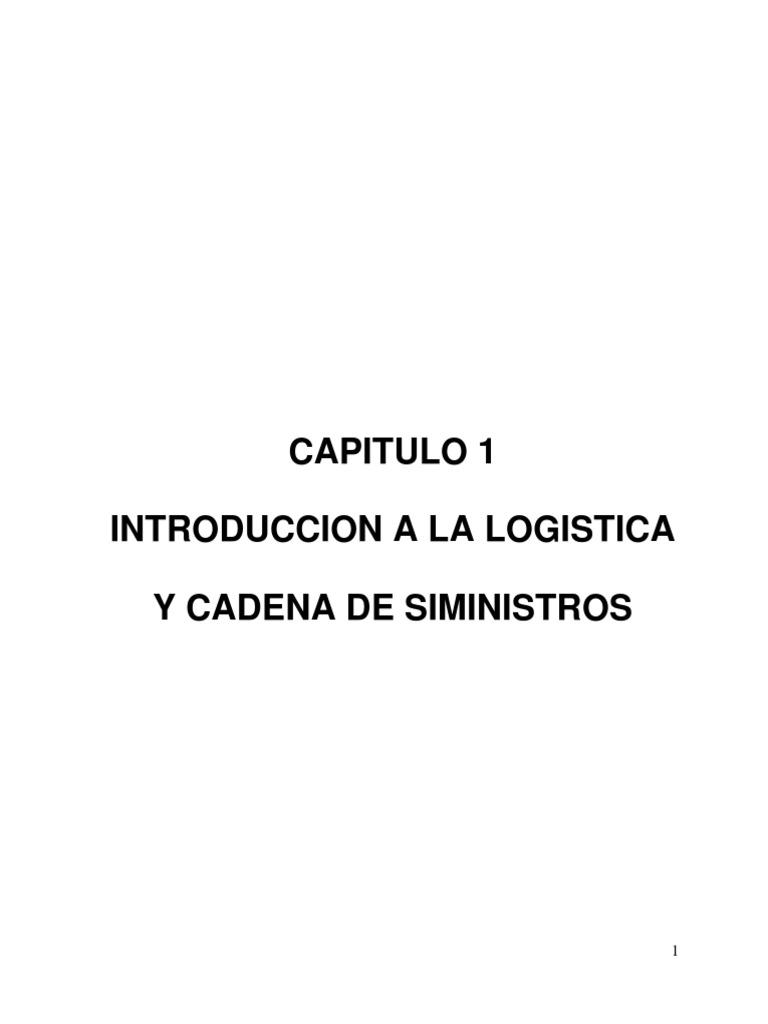 INTRODUCCION A LA LOGISTICA Y CADENA DE SIMINISTROS
