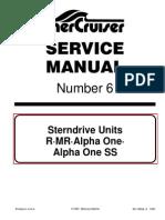 mercruiser service manual 14 alpha i gen ii outdrives 1991 newer rh scribd com mercruiser alpha one outdrive service manual mercury mercruiser sterndrive service manual