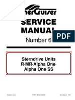 Mercruiser Service Manual 6 Outdrives R/MR/Alpha One/Alpha SS