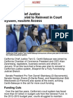California Chief Justice Unveils Blueprint to Reinvest in Court System, Restore Access