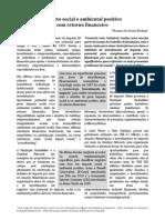 Impacto Social e Ambiental Positivo Com Retorno Financeiro
