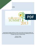 childrens summit community report