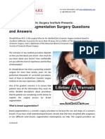 Breast Augmentation Surgery Questions and Answers