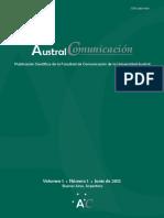 Austral Comunicación - Vol 1 N° 1 Junio de 2012