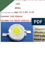 High Power 1W LED Light