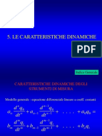 CARATTERISTICHE DINAMICHE delle misure meccaniche