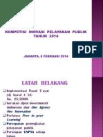 Materi Kompetisi Inovasi Pelayanan Publik 2014 Polri