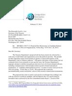 501(c)(4) Comments by Competitive Enterprise Inst. Re IRS REG-134417-13