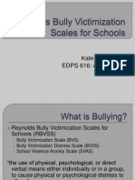 reynolds bully victimization scales for schools