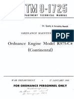 TM 9-1725 Ordnance Engine Model R975-C4 (Continental) 1944