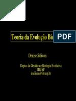 Teoria Evolução Apresentação ppt USP