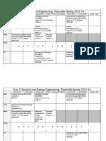 Timetable 2013-14 Year 3 Chem Eng Spring (All) v3
