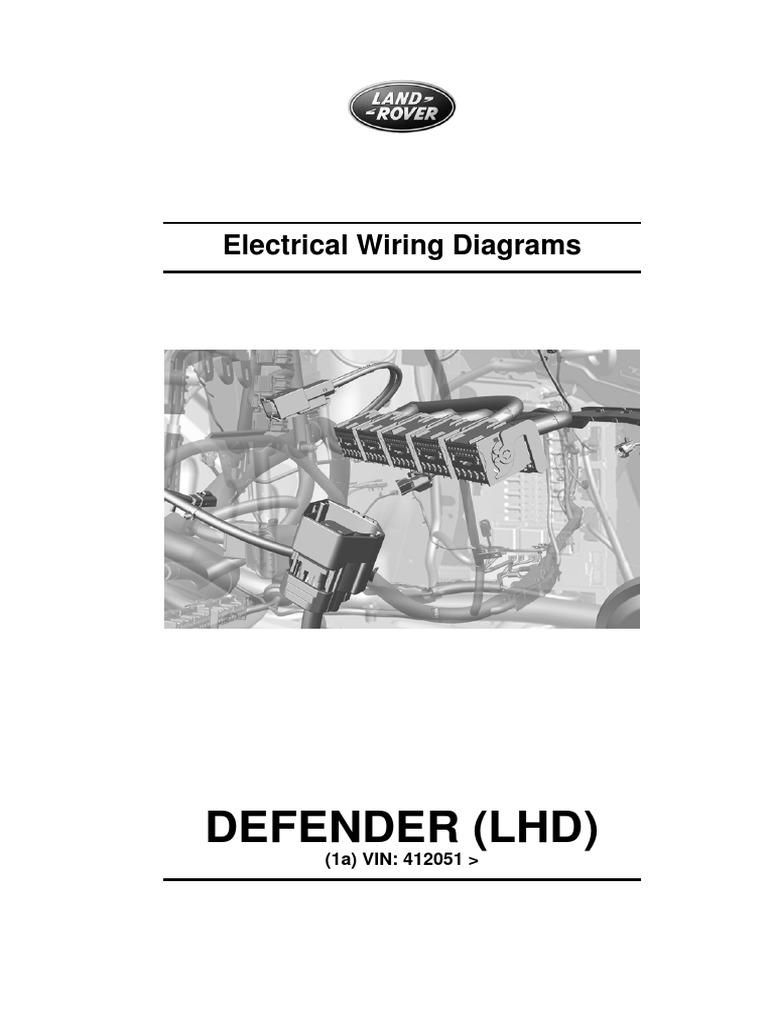 defender 90 wiring diagrams defender my12 electric wiring diagrams vehicle technology  defender my12 electric wiring diagrams