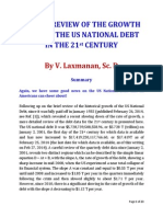 A BRIEF REVIEW OF THE GROWTH RATE OF THE US NATIONAL DEBT IN THE 21st CENTURY