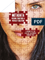 ACLU Metadata Report