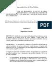 Reglamento de La Ley de Obras Publicas