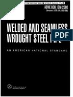 ASME B36-10M Welded y Seamless Wrought Steel Pipe