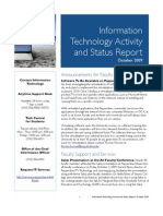 October 2009 IT Status Report