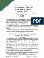 aguado (1988) valoración de la competencia morfosintáctica en el niño de dos años y medio