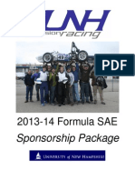 2014 UNH Precision Racing Sponsorship