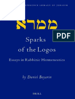 (Wam) Sparks of the Logos, Essays in Rabbinic Hermeneutics - Daniel Boyarin