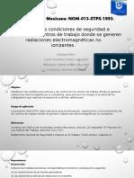 NORMA Oficial Mexicana No-Ionizantes