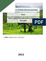 Diversidad Floristica de Las Lomas de Lima