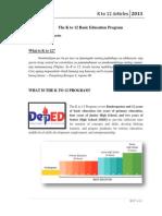 The K to 12 Basic Education Program ARTICLES