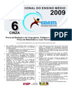 Cad Enem 2009 2aaplic Dia 2 - Cinza