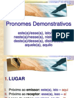 7. Pronomes demonstrativos