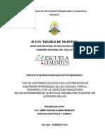 DESCRIPCIÓN DEL PROYECTO DE INNOVACIÓN EDUCATIVA