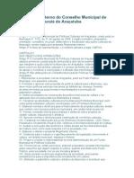 Regimento interno do Conselho Municipal de Políticas Culturais de Araçatuba