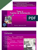 Fuentes de Información (Clase 6)