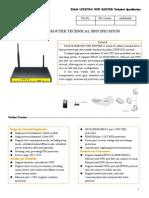 f3a34 Lte&Evdo Wifi Router Specification1