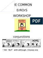 Common Errors and Literary mistakes