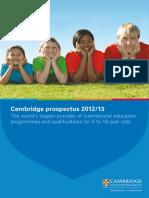 Cambridge Prospectus 2013